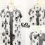 ผ้าพันคอลายหัวกะโหลก Skull pattern scarf : สีขาวดำ : ผ้าพันคอชีฟอง - size 170*70 cm thumbnail 6