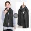 ผ้าพันคอไหมพรม ผ้า cashmere scarf size 180x30 cm - สี dark grey thumbnail 4