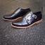 รองเท้าผู้ชาย | รองเท้าแฟชั่นชาย Black Double Monk Strap หนังแท้ ขัดเงา thumbnail 3