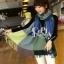 ผ้าพันคอ ผ้าคลุมพัชมีนา Pashmina ลายตาราง size 200x60 cm- สี Green Blue thumbnail 8