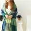 ผ้าพันคอ ผ้าคลุมพัชมีนา Pashmina ลายตาราง size 200x60 cm- สี Green Blue thumbnail 2