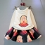 ชุดเสื้อกันหนาวลายตุ๊กตาสาวน้อย + กระโปรงผ้าโฟม (เนื้อผ้าหนาดีค่ะ) thumbnail 1