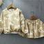 ชุด 2 ชิ้น เสื้อ+กระโปรงผ้าลูกฟูก (สีน้ำตาล) thumbnail 3