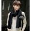 ผ้าพันคอไหมพรมถัก Knit Scarf - size 160x30 cm - สี Black thumbnail 1