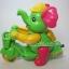 ช้างขี่จักรยานเชือกดึง สีเขียว thumbnail 1