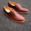 รองเท้าผู้ชาย | รองเท้าแฟชั่นชาย Brown Derby Oiled Pull Up Leather thumbnail 1