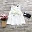 ส่ง:เสื้อฮานาโกะแต่งโบว์ติดมุกขาวทรงสวิงแบบน่ารัก/อก37 thumbnail 1