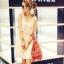 """""""พร้อมส่ง""""เสื้อผ้าแฟชั่นสไตล์เกาหลีราคาถูก Brand Fashion shower เดรสสีขาวครีมแขนกุด ช่วงบนปักเลื่อม ต่อกระโปรงผ้าตาข่าย2ชั้น มีซับใน มีริ้บบิ้นผูกเอว สวยค่ะ thumbnail 1"""