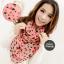 ผ้าพันคอลายหัวใจ Heart Scarf (สีชมพู) ผ้าชีฟอง 160x60 cm thumbnail 1
