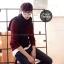 ผ้าพันคอผู้ชาย Man scarf ผ้า cashmere 180x30 cm - สี Black thumbnail 2