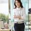 เสื้อเชิ้ตทำงานผู้หญิงแขนยาวแฟชั่นสีขาว thumbnail 10