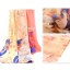 ผ้าพันคอลายดอกคาเนชั่น Carnation : สีส้ม ผ้า Viscose size 180x90 cm thumbnail 3