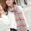 ผ้าพันคอโบฮีเมียน Nordic ethnic : สีแดงครีม ผ้า chiffon size 160 x 60 cm thumbnail 3