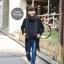ผ้าพันคอไหมพรมถัก Knit Scarf - size 160x30 cm - สี dark gray thumbnail 6