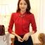 เสื้อแขนยาวแฟชั่นสีแดง เรียบหรู thumbnail 1