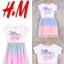 """H&M เดรสยูนิคอน แต่งผ้ามุ้ง (ตำหนิสกรีนแตก) 10-12ปี อก 29"""" ยาว 29"""" thumbnail 1"""
