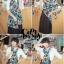 ผ้าพันคอแฟชั่น Retro Graphic : เข็มกลัดสีดำ ผ้าชีฟอง size 160x45 cm thumbnail 3