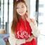 ผ้าพันคอแฟชั่น Cotton Candy : สี Red thumbnail 3