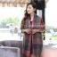 ผ้าพันคอ ผ้าคลุมพัชมีนา Pashmina scarf ลายตาราง size 200x60 cm - สี Dark Green thumbnail 5