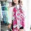ผ้าพันคอแฟชั่นลายโซ่ Chiffon Coach : สีชมพูเข้ม : ผ้าพันคอ Silk Chiffon 160x60 cm thumbnail 1