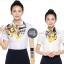 ผ้าพันคอสำเร็จรูป ผ้ายูนิฟอร์ม uniform ผ้าไหมซาติน : L224 thumbnail 4