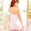 ชุดนอนซีทรุเซ็กซี่ผ้าซาตินสีชมพูอ้มส่้ม thumbnail 4