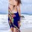 ผ้าคลุมชุดว่ายน้ำ ผ้าคลุมชายหาด ผ้าชายทะเล SH776 : ผ้าชีฟอง size 140x80 cm (มีสายคล้องแขน) thumbnail 2