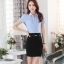 เสื้อเชิ้ตทำงานแขนสั้น สีฟ้า เป็นชุดยูนิฟอร์ม ชุดพนักงานออฟฟิต thumbnail 5