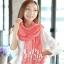 ผ้าพันคอแฟชั่น Cotton Candy : สี Melon Red thumbnail 3