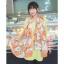 ผ้าพันคอแฟชั่นลายโซ่ Chiffon Coach : สีส้ม : ผ้าพันคอ Silk Chiffon - size 160x60 cm thumbnail 8