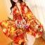 ผ้าพันคอแฟชั่น Retro Graphic : สีส้ม ผ้าชีฟอง size 150x50 cm thumbnail 8