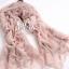 ผ้าพันคอวินเทจ ลาย Porcelian : ผ้าพันคอ Viscose 160 x 80 cm สี Pastel pink thumbnail 3