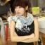 ผ้าพันคอวินเทจ ลาย Porcelain : ผ้า Viscose 160 x 75 cm สีขาว thumbnail 3
