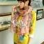 ผ้าพันคอลายดอกไม้ Blossom Bloom : Light Pink ผ้า Viscose size 180x90 cm thumbnail 5