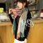 ผ้าพันคอ ผ้าคลุมพัชมีนา Pashmina scarf ลายตาราง size 200x60 cm - สี Light Pink thumbnail 4