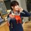 ผ้าพันคอ ผ้าคลุมพัชมีนา Pashmina scarf ลายตาราง size 200x60 cm - สี Red blue thumbnail 8