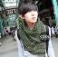 ผ้าพันคอชีมัค Shemash : สีเขียว size 100 x 100 cm thumbnail 5