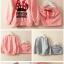 ชุดเสื้อกันหนาวสกรินลายโบว์ MINNIE + กระโปรงสีเทา (ผ้าดีค่ะ) thumbnail 13