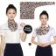 ผ้าพันคอสำเร็จรูป ผ้ายูนิฟอร์ม uniform ผ้าไหมซาติน : L44 thumbnail 1