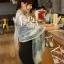 ผ้าพันคอวินเทจ ลาย Porcelain : ผ้า Viscose 160 x 75 cm สีขาว thumbnail 7