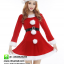 ชุดซานตาครอสสาว ผ้ากำมะหยี่สีแดงขาว ชุดซานตี้ ชุดแฟนซีซานต้า ชุดแฟนซีสีแดง ชุดคอสเพลย์ ชุดซานต้าครอสหญิง thumbnail 1