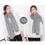 ผ้าพันคอไหมพรม ผ้า cashmere scarf 180x30 cm - สี light Grey thumbnail 3