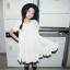"""""""พร้อมส่ง""""เสื้อผ้าแฟชั่นสไตล์เกาหลีราคาถูก Brand Vivi Party เดรสผ้าฝ้ายสีขาว แขนสั้น ทรงปล่อย ไม่มีซับใน thumbnail 1"""