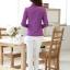 เสื้อผู้หญิงสีม่วงแฟชั่นแขนยาว เรียบหรู thumbnail 6