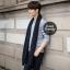 ผ้าพันคอไหมพรมถัก Knit Scarf - size 160x30 cm - สี Black thumbnail 5