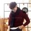 ผ้าพันคอผู้ชาย Man scarf ผ้า cashmere 180x30 cm - สี Black thumbnail 3