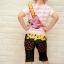 ชุดเสื้อสกรีนลายสะพายเป้ + กางเกง thumbnail 6