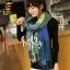 ผ้าพันคอ ผ้าคลุมพัชมีนา Pashmina ลายตาราง size 200x60 cm- สี Green Blue thumbnail 7