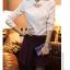 เสื้อทำงานผู้หญิงแขนยาวสีขาวน่ารักๆ ผ้าใส่สบาย thumbnail 2