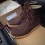 รองเท้าผู้ชาย | รองเท้าแฟชั่นชาย Dark Brown Boots หนังนูบัคแท้ thumbnail 1